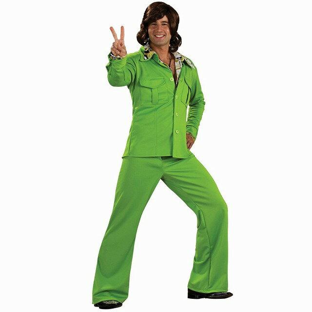 レジャースーツ 衣装、コスチューム デラックス ライム 大人男性用