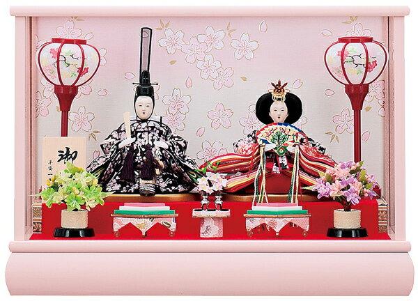 【お顔がきれい】【送料無料】雛人形ケース入り 小芥子親王飾り結衣1