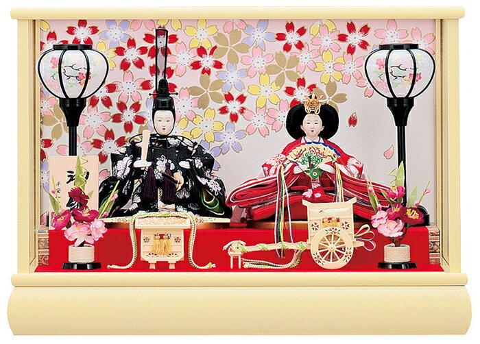 【お顔がきれい】【送料無料】雛人形ケース入り 小芥子親王飾り梨桜No2