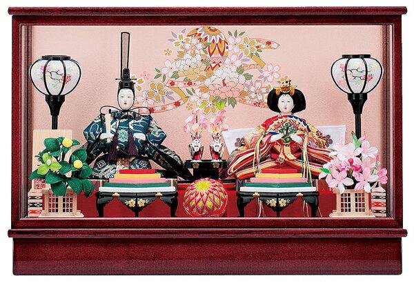 【お顔がきれい】【送料無料】雛人形ケース入り芥子、親王飾り 琴音No6