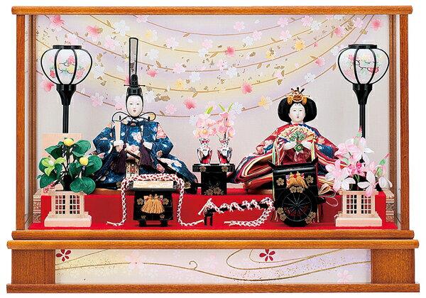 【お顔がきれい】【送料無料】雛人形ケース入り芥子、親王飾り 舞桜No7