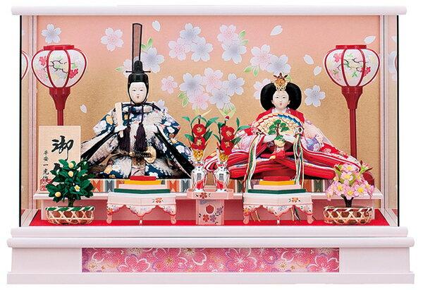 【お顔がきれい】【送料無料】雛人形ケース入り 芥子親王飾胡蝶No10