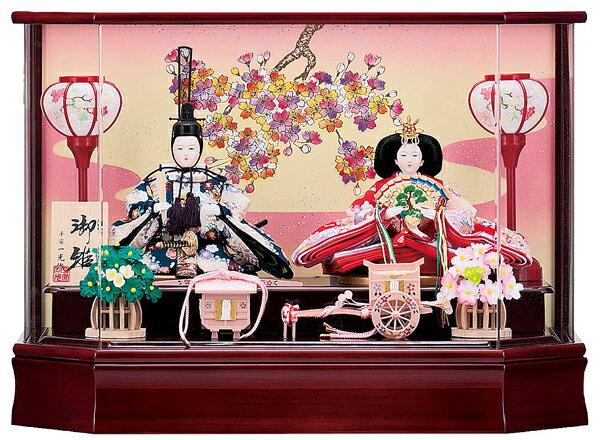 【お顔がきれい】【送料無料】雛人形ケース入り 小三五親王飾り らんNo18