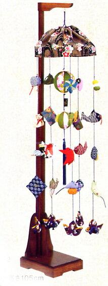 端午つるし飾り若竹(小)飾り台付きNo12
