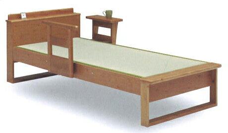 和室・洋室を問わない日本製 セミダブル畳ベッド アシスト 宮付 パイン無垢材(手すり別売)