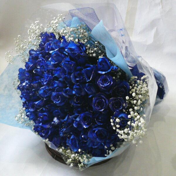 シルバーラメブルーローズ・青いバラ!100本