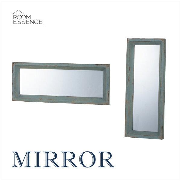 アンティーク ウォールミラー 壁掛け 角型 縦横 設置 飛散防止 鏡 かがみ 化粧鏡 ドレッサー リビング インテリア 装飾 TSM-52