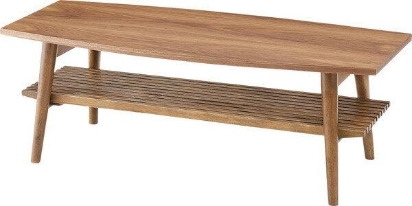 AZUMAYA 東谷 NET-614WAL アポロ フォールディングテーブル シンプルでおしゃれなデザイン 棚板取り外し可能 折りたたみも出来て収納に便利 北欧家具
