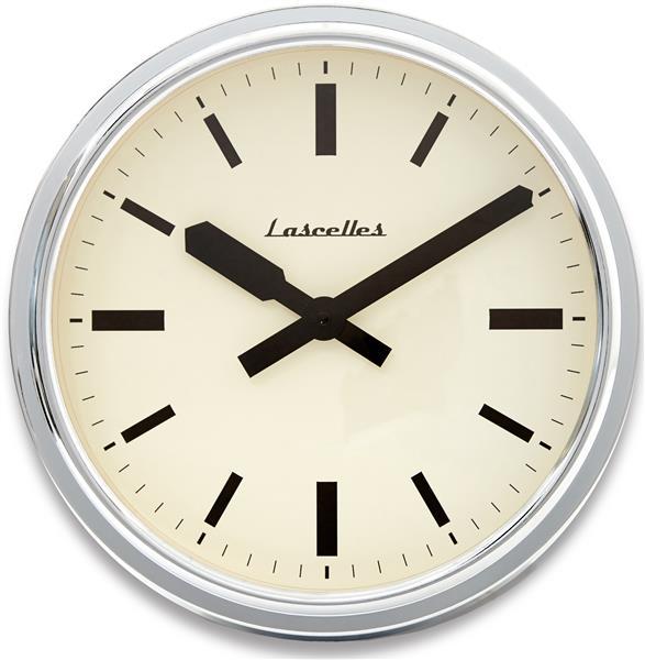 ロジャーラッセル掛け時計 RogerLascelles掛け時計 Deep Retro Chrome Wall Clock 36cm 壁掛け時計 RETRO-LONDON-CHROME