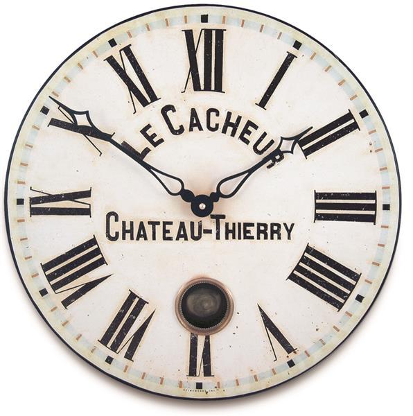 ロジャーラッセル掛け時計 RogerLascelles Antique French Clockmaker's Dial with Pendulum    41cm振り子時計 TW-PEND-CACHEUR