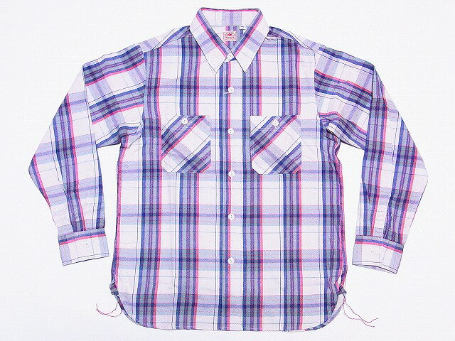 珍しい SUGAR CANE[シュガーケーン] ツイル チェック ワークシャツ 長袖 ライトウエイト ネルシャツ SC26876 TWILL CHECK WORK SHIRT (OFF WHITE) 送料無料 代引き手数料無料 【RCP】