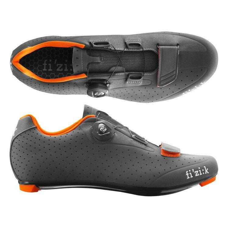 (fizik/フィジーク)(自転車用シューズ/靴用品)R5B UOMO(メンズ)BOA グレー/オレンジ 39