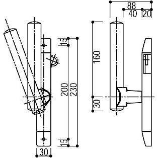 YKKAP サポートハンドル HH-4K-10145