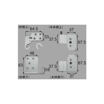 LIXIL/TOSTEM リビング建材用部品 ドア 丁番関係:ピボット丁番親子木扉用セット[MZDZPC003] [リクシル][トステム]