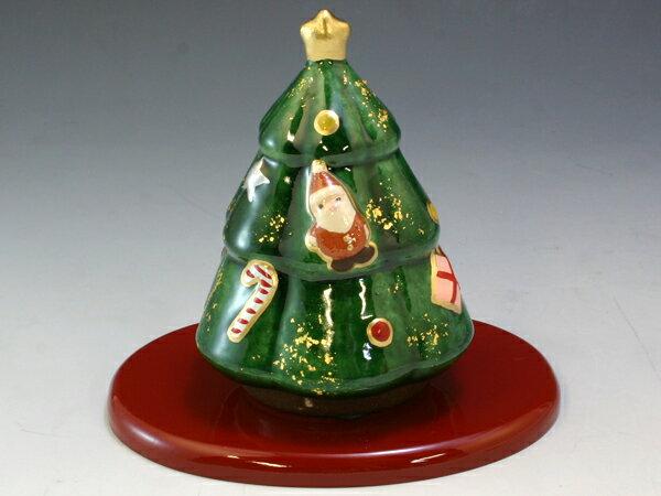 京焼・清水焼 ERX088 クリスマスツリー 置物