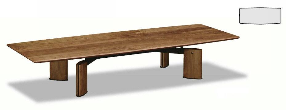 カリモクTE6410XR/ウォールナット/ダーク/180サイズ/ビベンテシリーズ/モダン座卓/センターテーブル/机/送料無料/日本製家具/木製