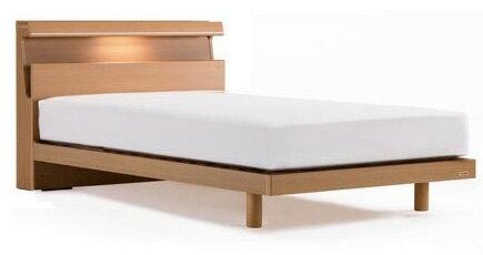 フランスベッドDL-03C/ワイドダブル/レッグタイプ・脚付き・ヘッド棚収納・宮付LED照明/木製/おすすめ/使いやすい/シンプル/ディーレクトス/日本製家具