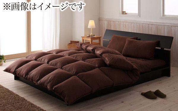 布団セット ダブル 羽根 羊毛混  8点セット 床畳用