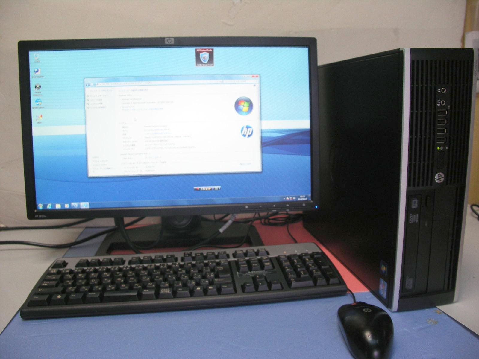 HP 8200 i7 3.2GHz 4GB 500GB  WINDOWS7 22インチセット【中古】【送料無料】【あす楽対応】