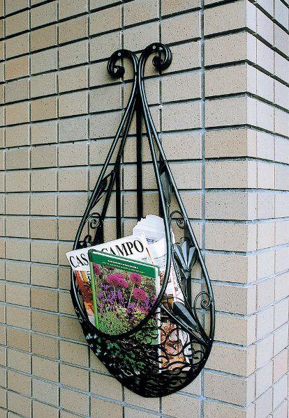 フラワーボックス 壁飾り アイアンフラワーバスケットウォールバスケット2型 窓辺の花置 アイアンフラワーボックス 外構工事