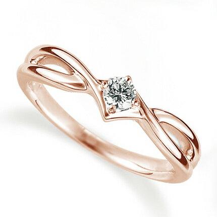 ペアリング(女性用) 結婚指輪 婚約指輪 マリッジリング K18ピンクゴールド ダイヤモンドリング 0.1ct 《Proud M1035L》 【刻印無料 ケース付き 送料無料】 【RCP】 【532P17Sep16】