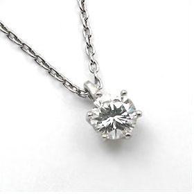 鑑定書付きネックレス  ダイヤモンド 0.7ct  G SI1 VERY-GOOD  丸アズキ プラチナ Pt900/Pt850