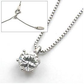 鑑定書付きネックレス  ダイヤモンド 1ct  D VVS1 EXCELLENT  ベネチアン プラチナ Pt900/Pt850