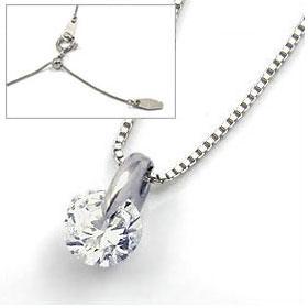 鑑定書付きネックレス  ダイヤモンド 0.3ct  F VVS2 EXCELLENT  ベネチアン プラチナ Pt900/Pt850