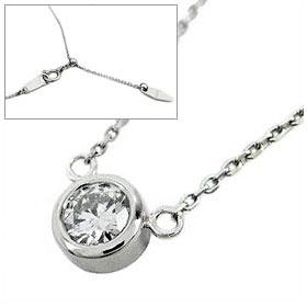 鑑定書付きネックレス  ダイヤモンド 0.25ct  D VVS1 EXCELLENT  丸アズキ プラチナ Pt900/Pt850