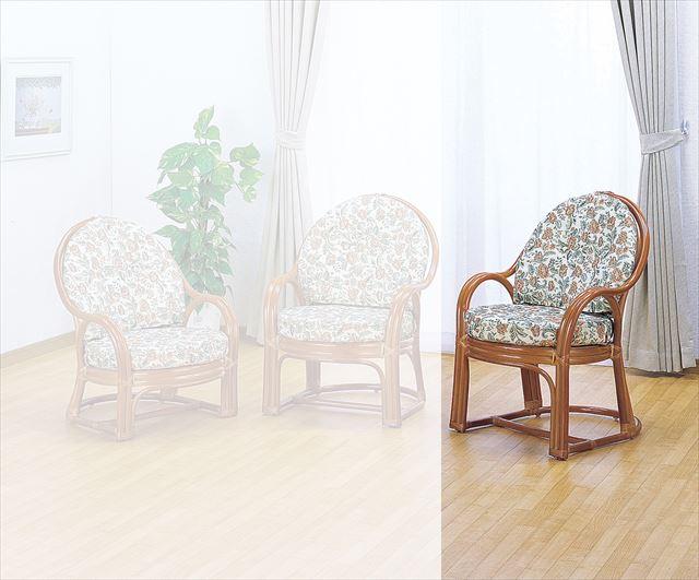 【送料無料】(アームチェアーハイタイプ S-573)ライトブラウン 籐 籐家具 座椅子 椅子 イス 和風リビングルーム籐(ラタン)製 輸入品 完成品 【smtb-MS】