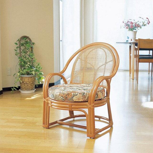 【送料無料】(アームチェアー Y-36)ライトブラウン 籐 籐家具 座椅子 椅子 イス アジアンリビングルーム籐(ラタン)製 輸入品 完成品 【smtb-MS】