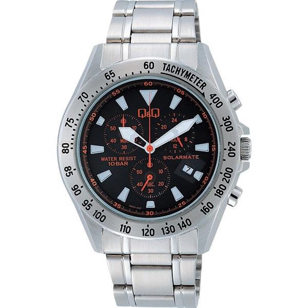 シチズン 腕時計 Q&Q SOLARMATE クロノグラフ H022-212【smtb-k】【ky】【KK9N0D18P】