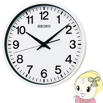 セイコークロック 掛け時計 衛星電波 アナログ 防湿・防塵型 金属枠 白 GP201W【smtb-k】【ky】【KK9N0D18P】