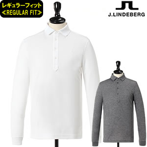 ジェイリンドバーグ J.LINDEBERG 長袖ポロシャツ DoubleKnit LS-Polos≪REG FIT≫76MG581295640/071-26811