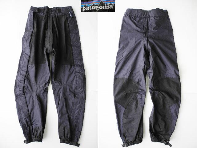 パタゴニアストレッチトリオレットパンツ黒×濃灰(6)ナイロン女性