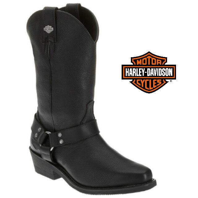 米国直輸入!日本未発売!送料無料!ハーレーダビッドソン・純正 メンズ ハリス ブラック レザー ハイカット ブーツ 本革 Harley-Davidson Mens Harris Black Leather High Cut Boot H-D Dealer Exclusive