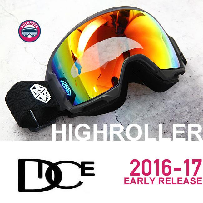 スノーボード ゴーグル 【 偏光レンズ 】 DICE ゴーグル HIGH ROLLER《17HR-6》EARLY RELEACE MODEL ダイス ハイローラー[CSK]pM/GRSHDd[球面/偏光レンズ]スキー スノボゴーグル スノーゴーグル HRE1611070