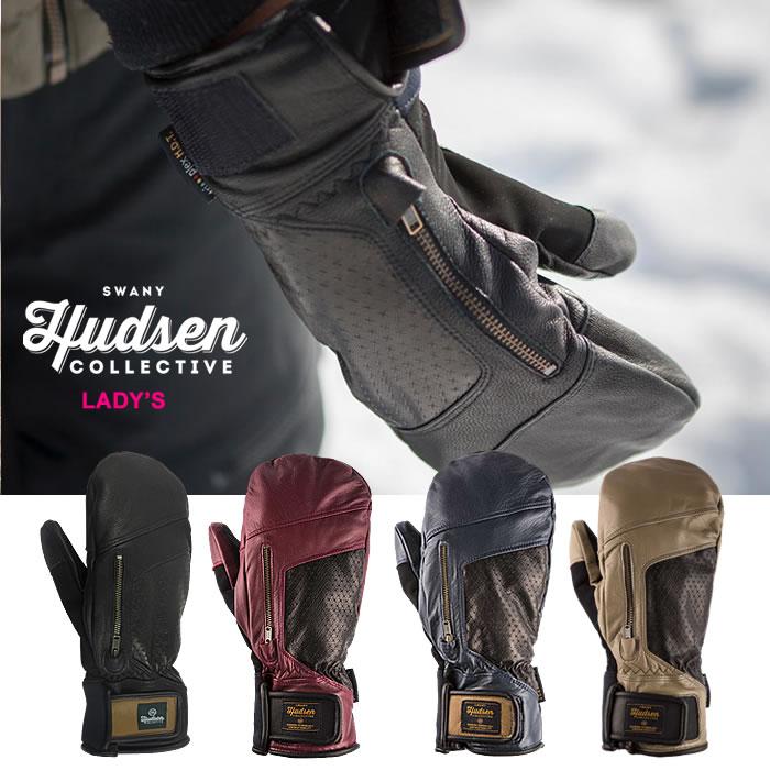 HUDSEN グローブ ハドソン WOMEN'S CALVIN MITT【HC-12L】【ミトンタイプ】【レディース】 スキー スノーボード スノーグローブ スキーグローブ レディース ロブスターミトン 女性用 [1115]