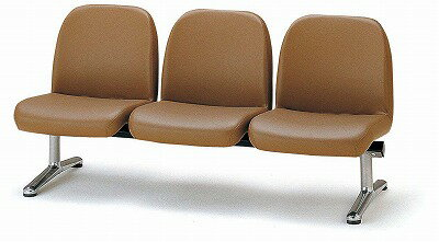TOKIO【藤沢工業】 ロビーチェア(待合室用長椅子)背付肘無し・布張りタイプ 3人用 LA-3 W1560xD630xH740mm