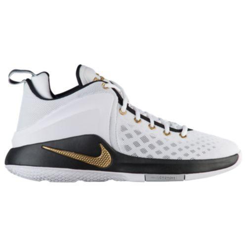 (取寄)Nike ナイキ メンズ バッシュ レブロン ジェームス ズーム ウィットネス バスケットシューズ Nike Men's Zoom Witness White Metallic Gold Black Wolf Grey
