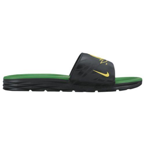 (取寄)Nike ナイキ メンズ ベナッシ ソーラーソフト カレッジ スライド Nike Men's Benassi Solarsoft College Slide Black Yellow Strike Apple