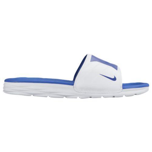 (取寄)ナイキ メンズ ベナッシ ソーラーソフト カレッジ スライド Nike Men's Benassi Solarsoft College Slide White Game Royal