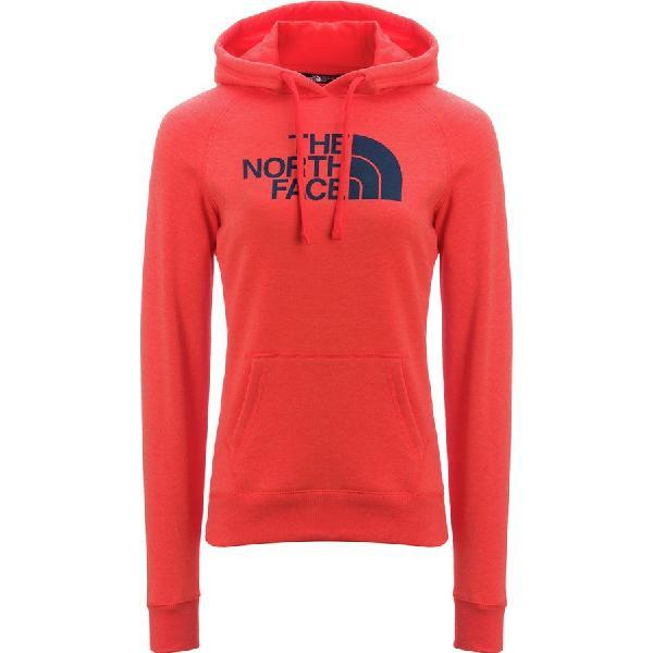 (取寄)ノースフェイス レディース ハーフ ドーム プルオーバー パーカー The North Face Women Half Dome  Hoodie Pullover Fire Brick Red Heather/Ink Blue