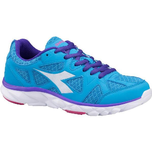 (取寄)ディアドラ レディース ホーク 5ポディウム シューズ Diadora Women Hawk 5 Podium Shoes Fluo Blue/White 【コンビニ受取対応商品】