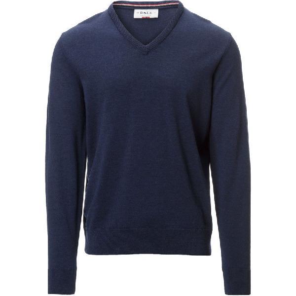 (取寄)ダーレ オブ ノルウェイ メンズ ハラルド セーター Dale of Norway Men's Harald Sweater Navy Melange 【コンビニ受取対応商品】