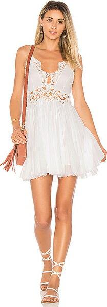 (取寄)フリーピープル レディース イレクトラ ミニ ドレス イン ホワイト Free People women's Ilektra Mini Dress in White