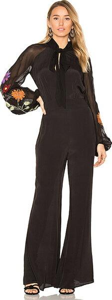 (取寄)フリーピープル レディース スモーク リング ジャンプスーツ イン ブラック Free People women's Smoke Ring Jumpsuit in Black