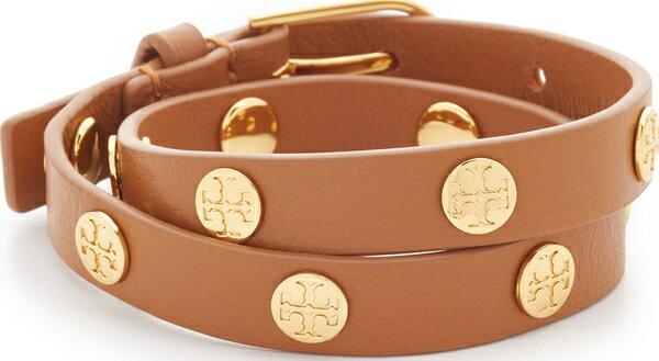 (取寄)トリーバーチ ダブル ラップ ロゴ スタッズ ブレスレット Tory Burch Double Wrap Logo Stud Bracelet 【コンビニ受取対応商品】