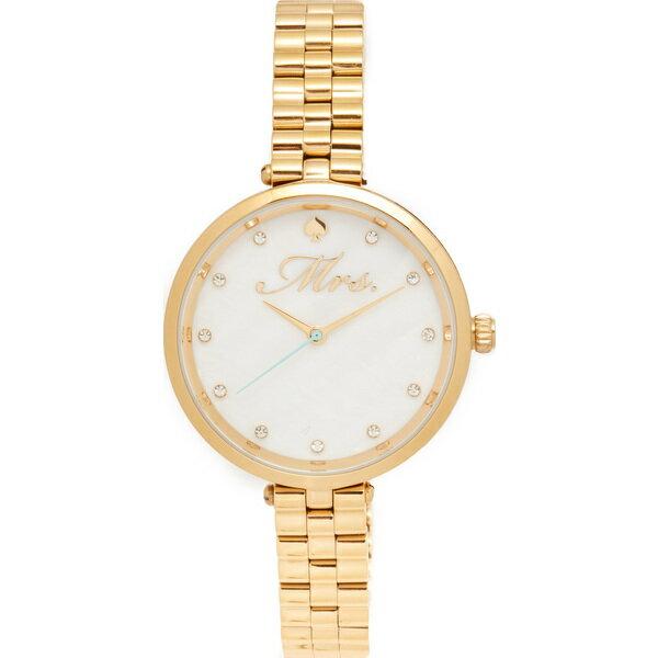 (取寄)Kate Spade New York Mrs. Bridal Watch ケイトスペード ミセス ブライダル ウォッチ Gold/Mother of Pearl