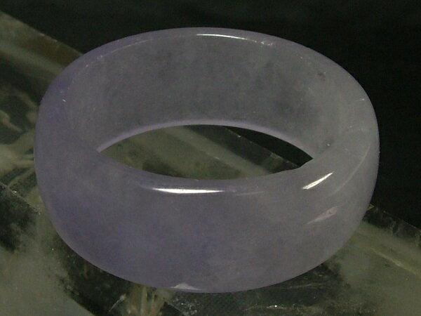 ■龍香堂■☆ミャンマーラベンダー氷種翡翠(アイスジェダイト)広幅指輪25号(v18)